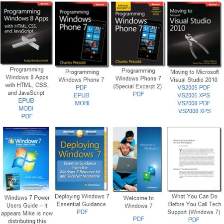 130 Microsoft Ebook gratis: Windows 7/8, Office, SharePoint, etc.