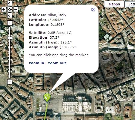 Puntare le Antenne Satellitari TV con Google Map / Earth