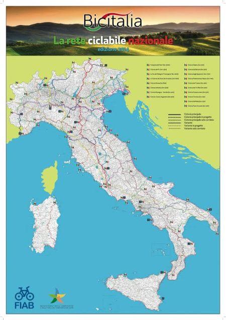 Bicitalia: 18 mila km di Piste Ciclabili + 50 Itinerari Regionali