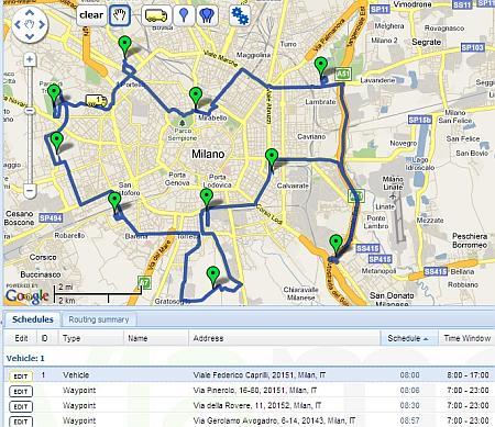 Come calcolare il percorso piú breve per indirizzi multipli
