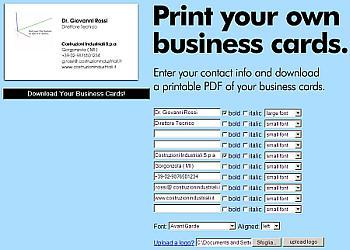 Come creare online Biglietti da Visita pronti da stampare
