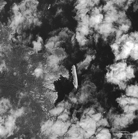 Costa Concordia: Traccia completa Rotta Nave GPS + AIS