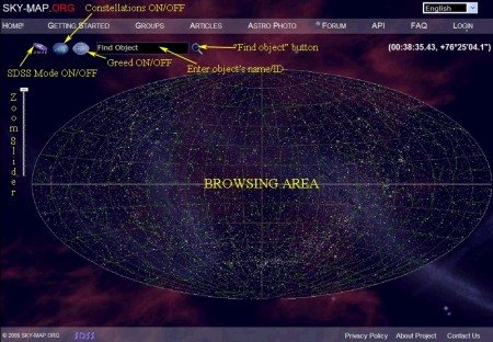 Esplora la mappa dell'Universo online in stile Google Earth
