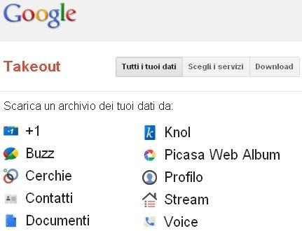 Servizi Google Come Scaricare Su Pc Copia Dei Tuoi Dati