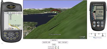 Simulatore di Volo Parapendio con Google Earth Plugin