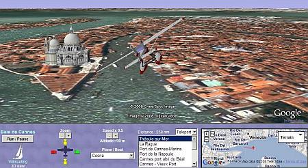 Vola e Naviga Virtualmente in 3D dovunque sulla Terra
