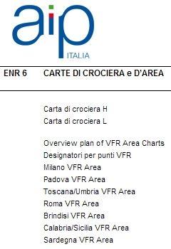 Volo: Carte Spazi Aerei Italiani ENAV AIP in formato PDF